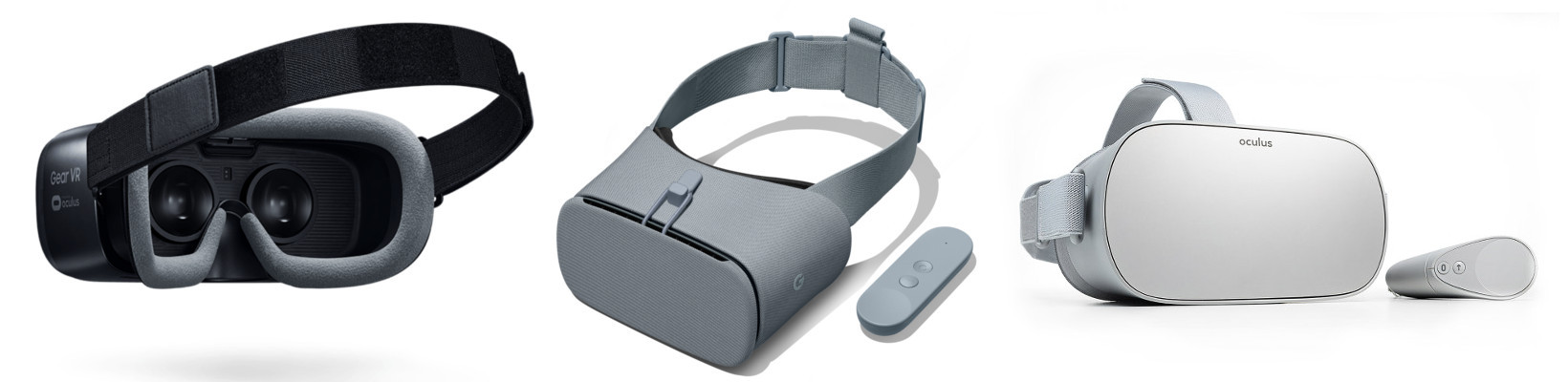 Samsung GearVR powered by Oculus, Google Daydream, Oculus Go,